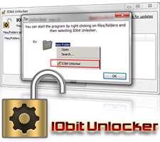 پاکسازی فایل های غیر قابل حذف، IObit Unlocker 1.1