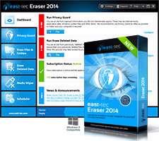 حذف اثرات فعالیت های روزانه، East-Tec Eraser 2014 11.0.6.100