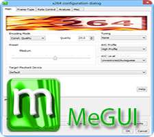 کاهش حجم فیلم بدون افت کیفیت، MeGUI 1.0.2418