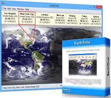 نمایش زمان و ساعت شهرهای جهان، EarthTime 4.3.6