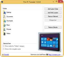 شخصی سازی پنجره This PC در ویندوز 8.1، This PC Tweaker 1.1.0.0