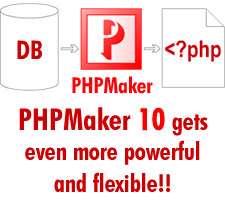 ساخت و تولید صفحات پی اچ پی، PHPMaker 10.0.3