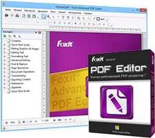 ویرایش و مدیریت فایل های پی دی اف، Foxit Advanced PDF Editor 3.10