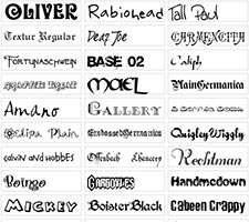 مجموعه 500 فونت زیبای انگلیسی، Sidoka Fonts Pack Collection