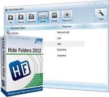 قفل گذاری روی فایل و پوشه ها، Hide Folders 2012 4.6.3 Build 929