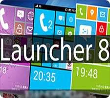 دانلود Launcher 8 Pro 2.6.2 پوسته (تم) ویندوز فون 8 در اندروید