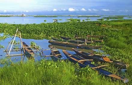 قایق های ماهیگیری در ساحل