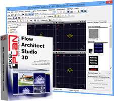 طراحی و نقشه کشی 3 بعدی ساختمان، Flow Architect Studio 3D 1.8.4