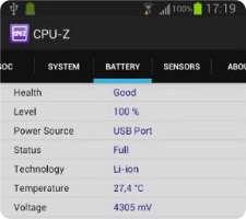 نمایش اطلاعات کامل سخت افزاری و نرم افزاری در اندروید، CPU-Z 1.07
