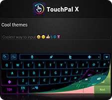 دانلود TouchPal X Keyboard 5.6.9.3 صفحه کلید حرفه ای در اندروید + تبلت