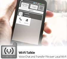 ایجاد تماس و ارسال پیامک و فایل از طریق وای فای، Wi-Fi Talkie 1.5.1