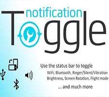 ایجاد میانبُر برنامه ها در استاتوس بار، Notification Toggle Premium 3.0.8