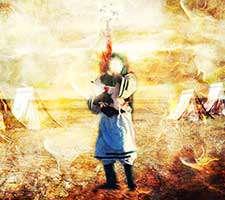 طرح لایه باز (فرمت psd) تصویر صحنه شهادت حضرت علی اصغر علیه السلام
