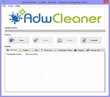 حذف تبلیغات و بدافزارها از مرورگرها و ویندوز، AdwCleaner 4.000