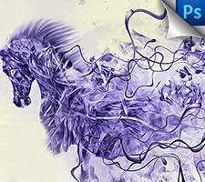 رازهای طراحی اثری هنرمندانه از یک اسب در فضای زمستانی در فتوشاپ - قسمت اول