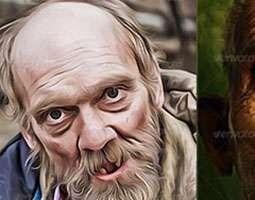 اکشن تبدیل تصاویر به نقاشی رنگ روغن اکریلیک