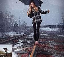 چگونگی طراحی یک صحنه ی بارش و الصاق برف به تصاویر