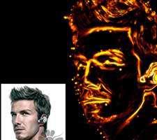إعمال افکت نور بر روی یک چهره در فتوشاپ