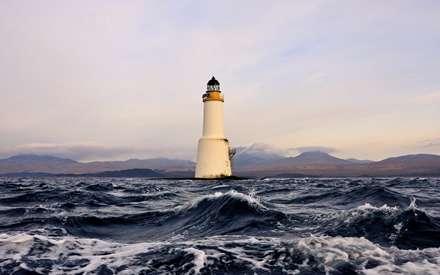 فانوس دریایی، دریا، موج