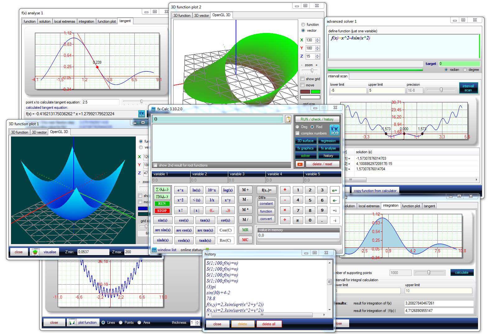 دانلود نرم افزار ماشین حساب مهندسی FxCalc 4.8.2.1 +پرتابل