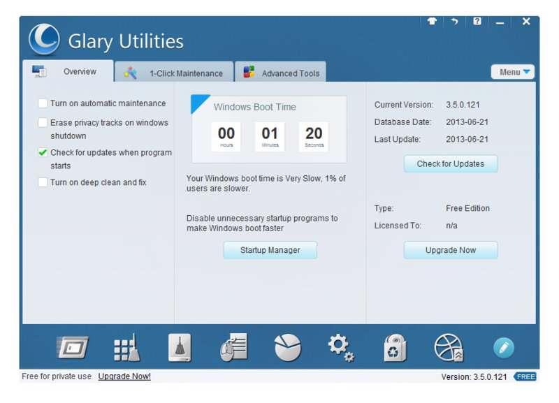 بهینه کننده ویندوز  Glary Utilities Pro 5.57.0.78