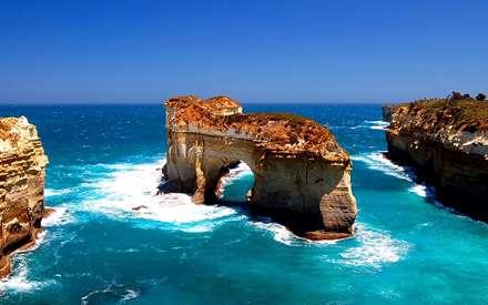 Great Ocean Road ،Island Archway ،Victoria،گذرگاه طاقدار ،جزیره ویکتورا، اقیانوس