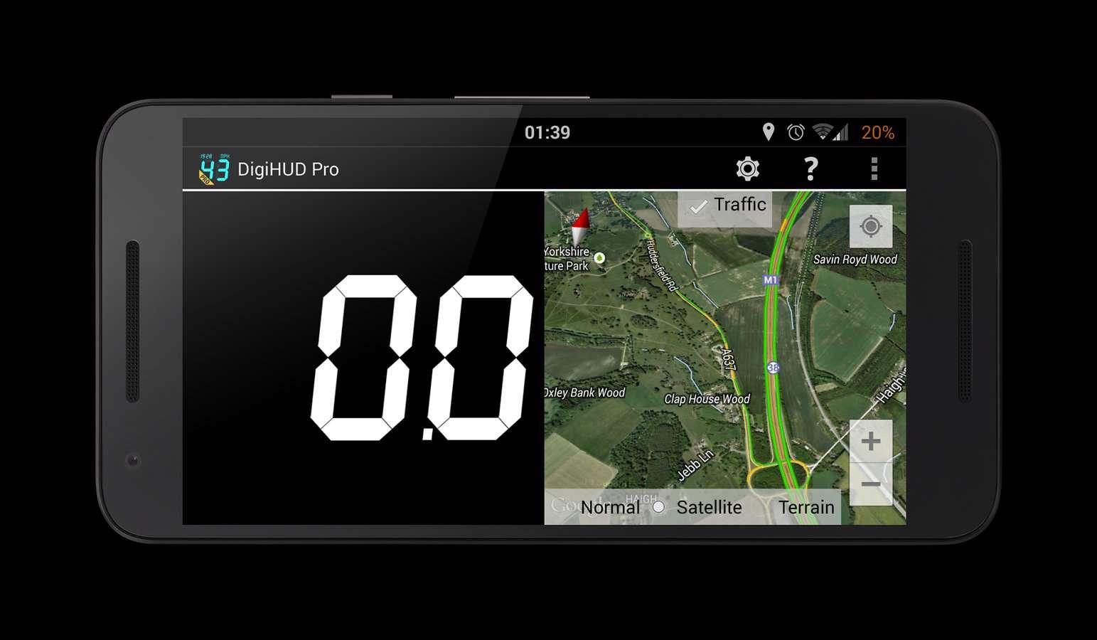 دانلود سرعت سنج وسایل نقلیه DigiHUD Pro Speedometer 1.1.5 برای آندروید