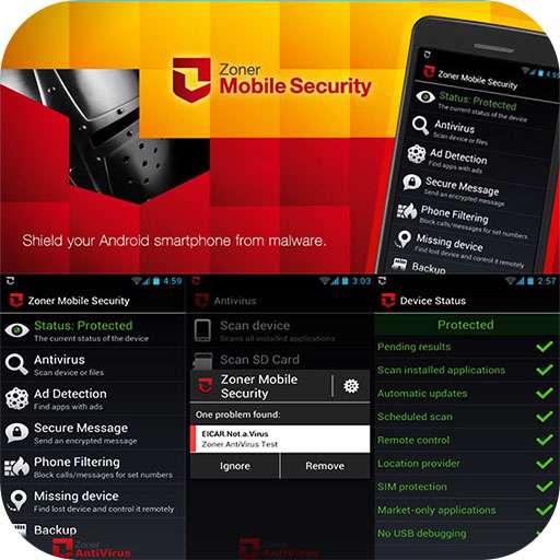 دانلود آنتی ویروس قدرتمند Zoner Mobile Security 1.4.1  برای آندروید در دو نسخه تبلت و موبایل