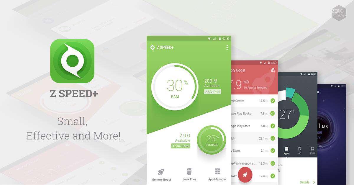دانلود برنامه عالی برای بهینه سازی دستگاه های آندرویدی Z Speed Plus Junk Cleaner Boost 2.1.2