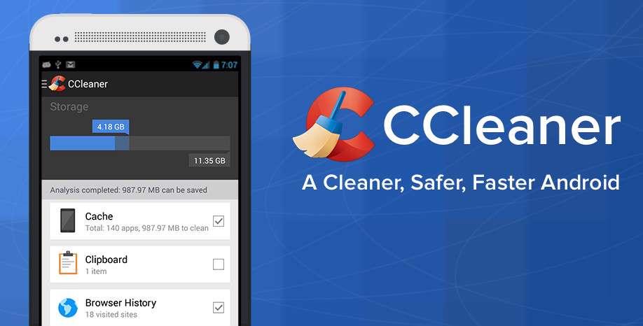 دانلود نرم افزار پاکسازی حافظه نهان دستگاه های اندرویدی CCleaner Pro 1.15.56