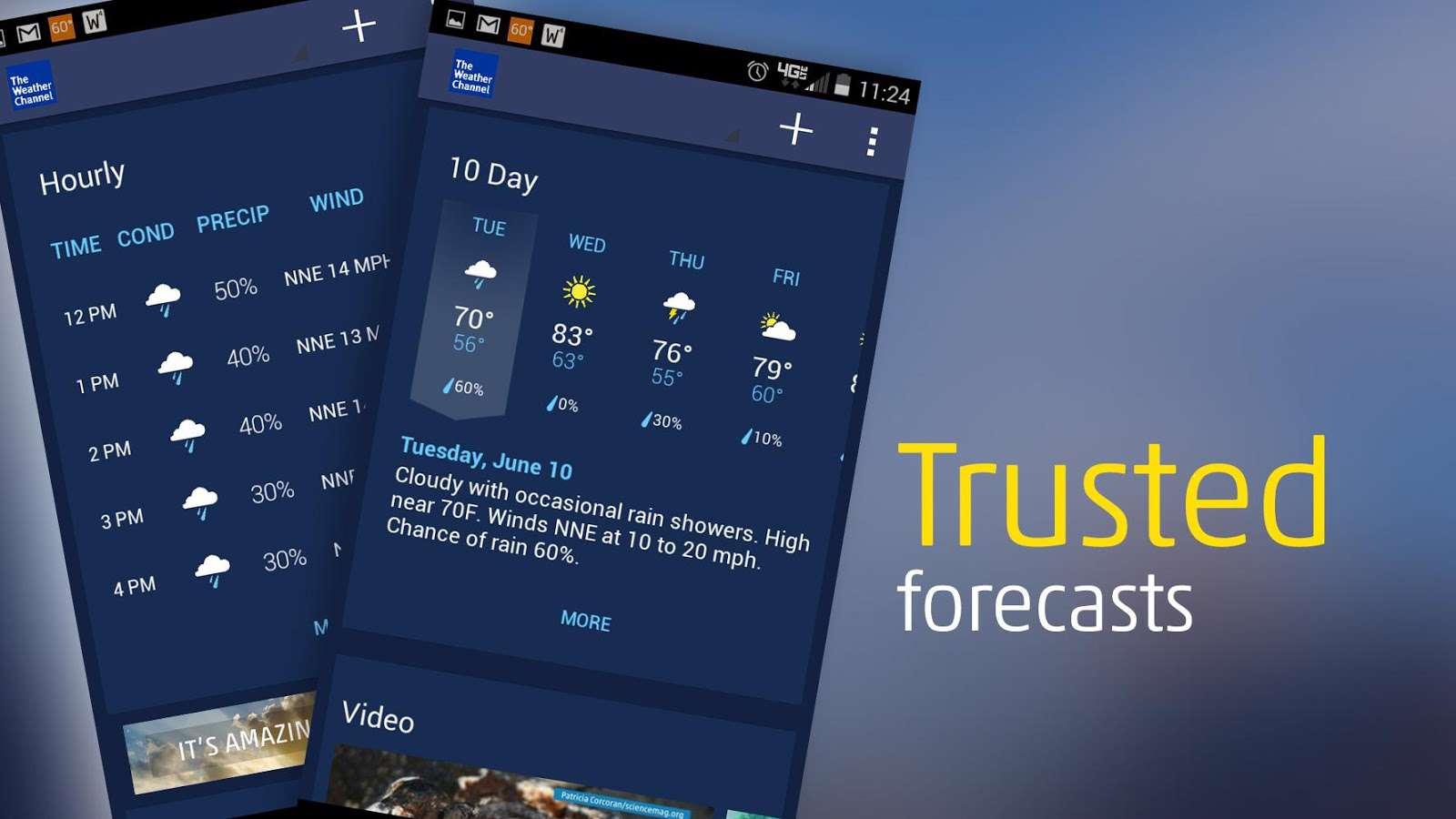 دانلود نرم افزار هواشناسی The Weather Channel 6.7.0 برای اندروید