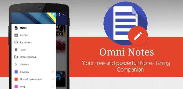 دانلود نرم افزار یادداشت برداری Omni Notes 5.2.15 اندروید
