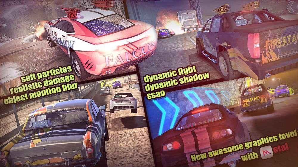 دانلود بازی ماشین سواری مسابقه ای MadOut Ice Storm TiNYiSO برای رایانه
