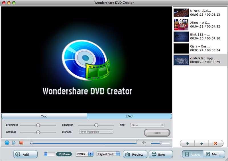 دانلود برنامه ساخت و تبدیلِ Wondershare DVD Creator 4.0.0.13 ، DVD