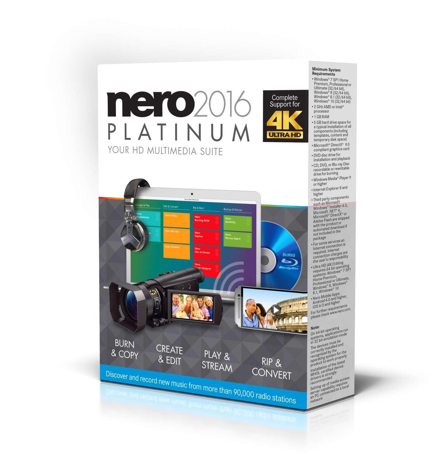 دانلود مجموعه نرم افزارهای Nero 2016 Platinum 17.0.04000 ، Nero