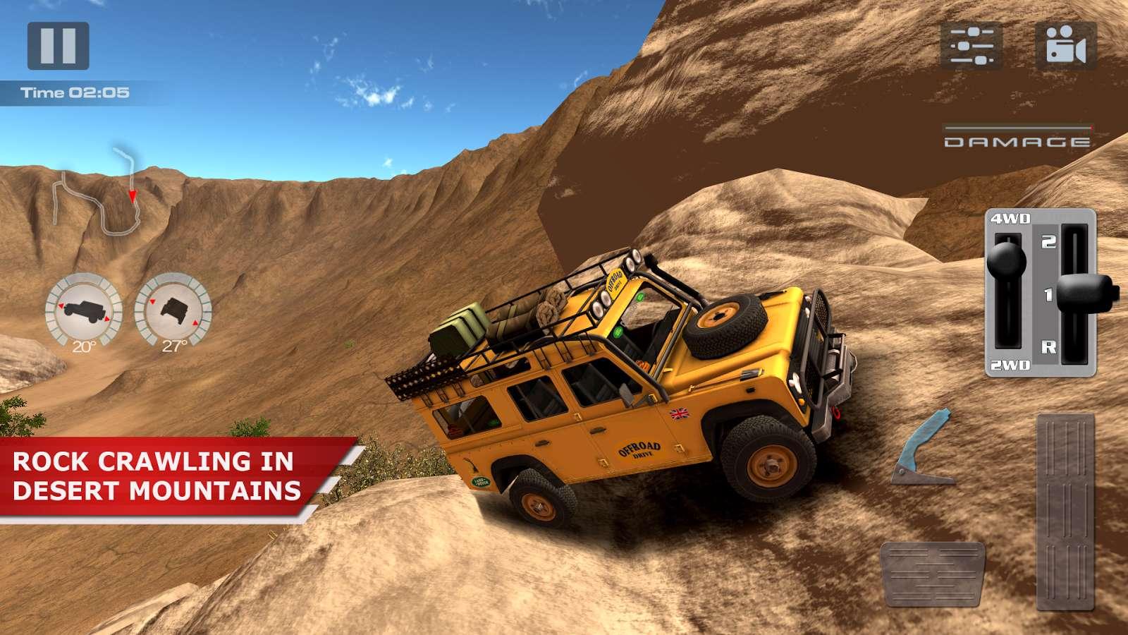 دانلود بازی اتومبیل رانی آفرود OffRoad Drive Desert 1.0.3 برای اندروید