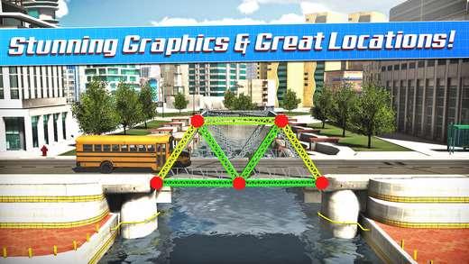 دانلود بازی فکری و جذاب پل سازی Bridge Construction Simulator v1 برای اندروید