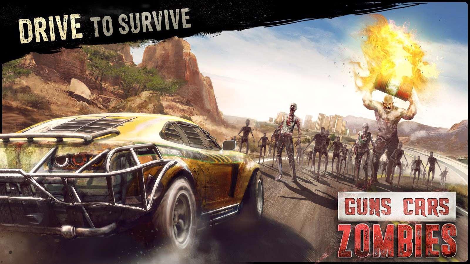 دانلود بازی هیجان انگیز Guns Cars Zombies 1.3.0.1 بری اندروید
