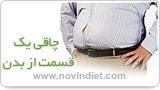 چاقی یک قسمت بدن