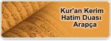 Kur'an Kerim Hatim Duası