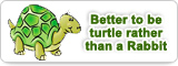 Better to be turtle rather than a Rabbit