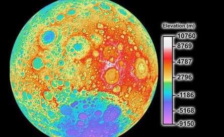 تصویر کامل ترین نقشه ماه