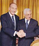 Katil Olmert'ten İç Savaşçı Abbas'aNULL HAMAS'a karşı güçlendirilmeli'