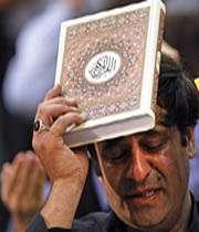 معنای به سر گرفتن قرآن
