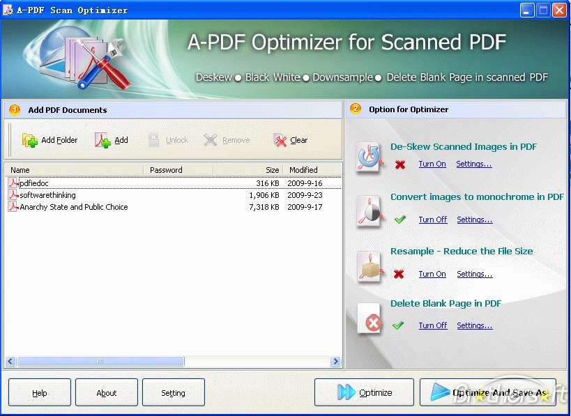 A-PDF Scan Optimizer 1.8.1