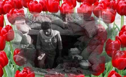 زنده یاد قیصر امین پور در زمان جنگ
