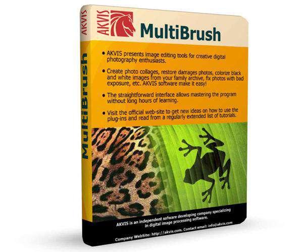 دانلود پلاگین قلم برای ویرایش تصاویر در فوتوشاپ  AKVIS MultiBrush 7.5.1546