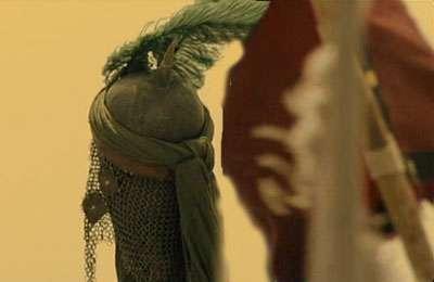 رأس امام حسین (ع) بر سر نیزه