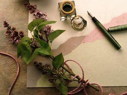 تصویر، IMAGE، شاخه، گل، قلم، دوات