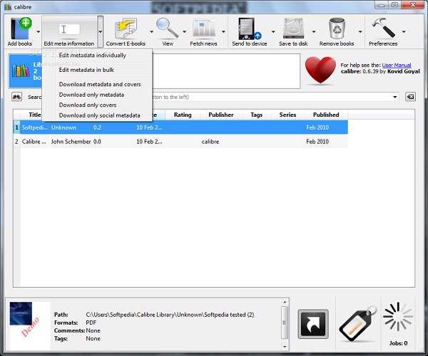 دانلود نرم افزار کتابخوان Calibre 3.19.0